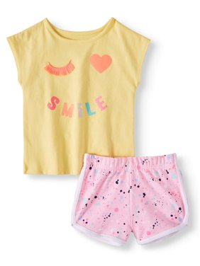 260b32a41d8f Product Image Toddler Girls  Graphic Dolman Sleeve T-Shirt and Print  Dolphin Shorts