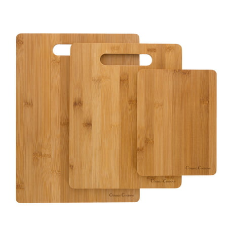 3 Piece Bamboo Cutting Board Set, Food Prep by Classic Cuisine ()