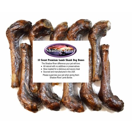 10 Pack Premium Lamb Shank Dog Bones by Shadow River - Product of the