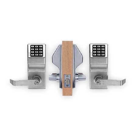 Satin Chrome Electronic (TRILOGY BY ALARM LOCK DL5200/26DGR Electronic Lock, Satin Chrome, 12 Button)