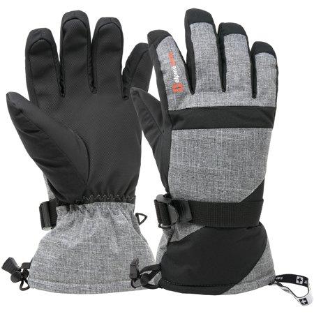 - Alpine Swiss Mens Waterproof Gauntlet Ski Gloves Winter Sport Snow 3M Thinsulate