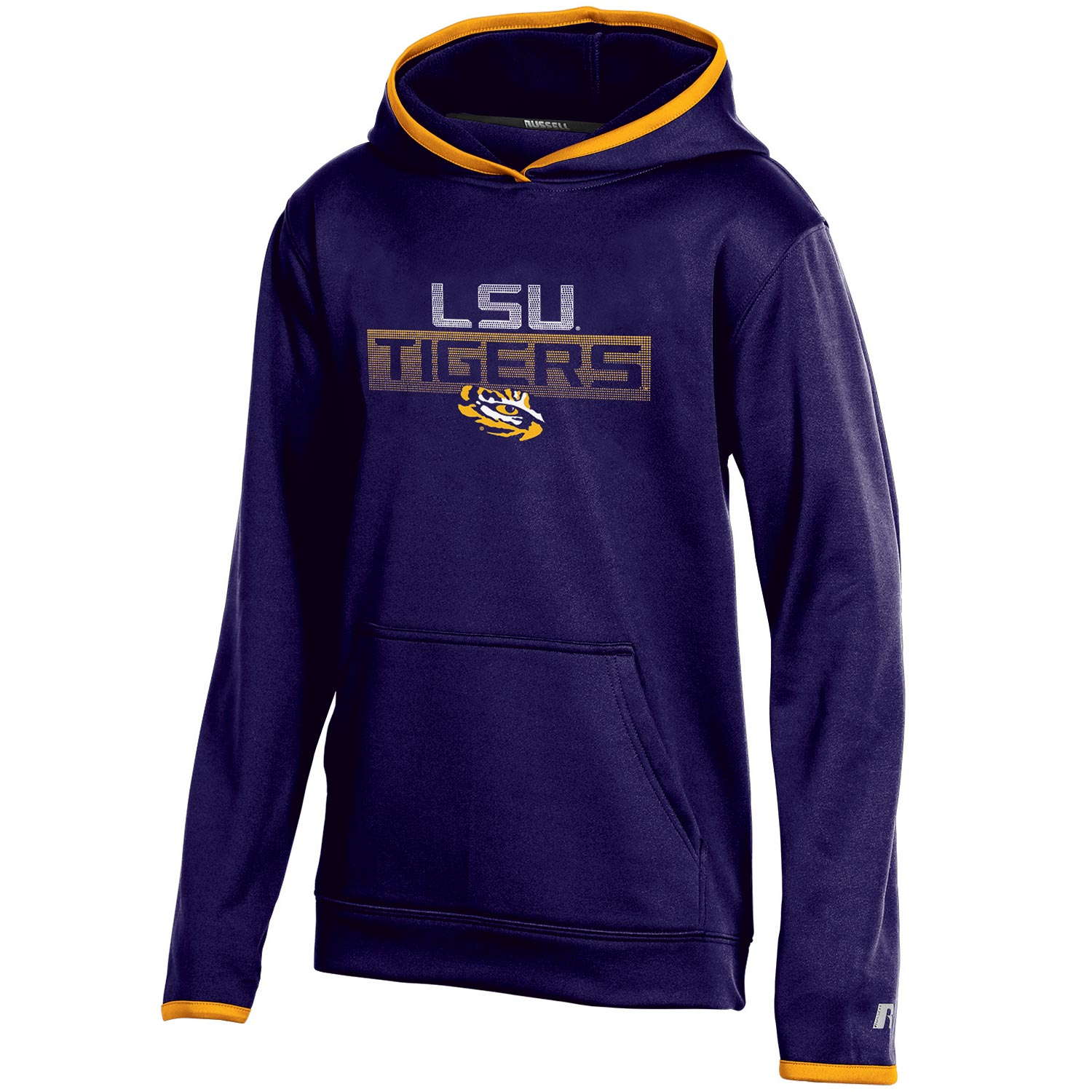 Youth Russell Purple LSU Tigers Pullover Hoodie