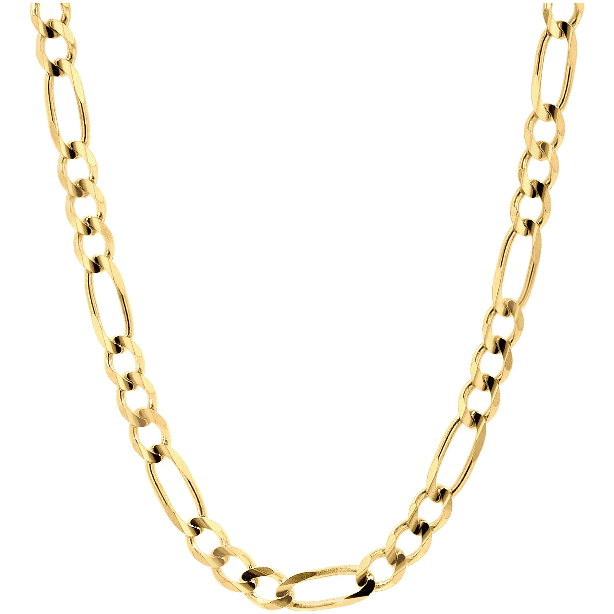 bc6ad9ef2f08 Pori - Jewelers 5MM Figaro Chain Necklace in 10K Solid Gold BOXED -  Walmart.com