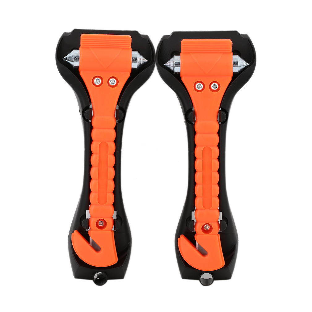 2pcs Car Window Breaker Emergency Hammer Belt Cutter Bus Safe Escape Tool Kit