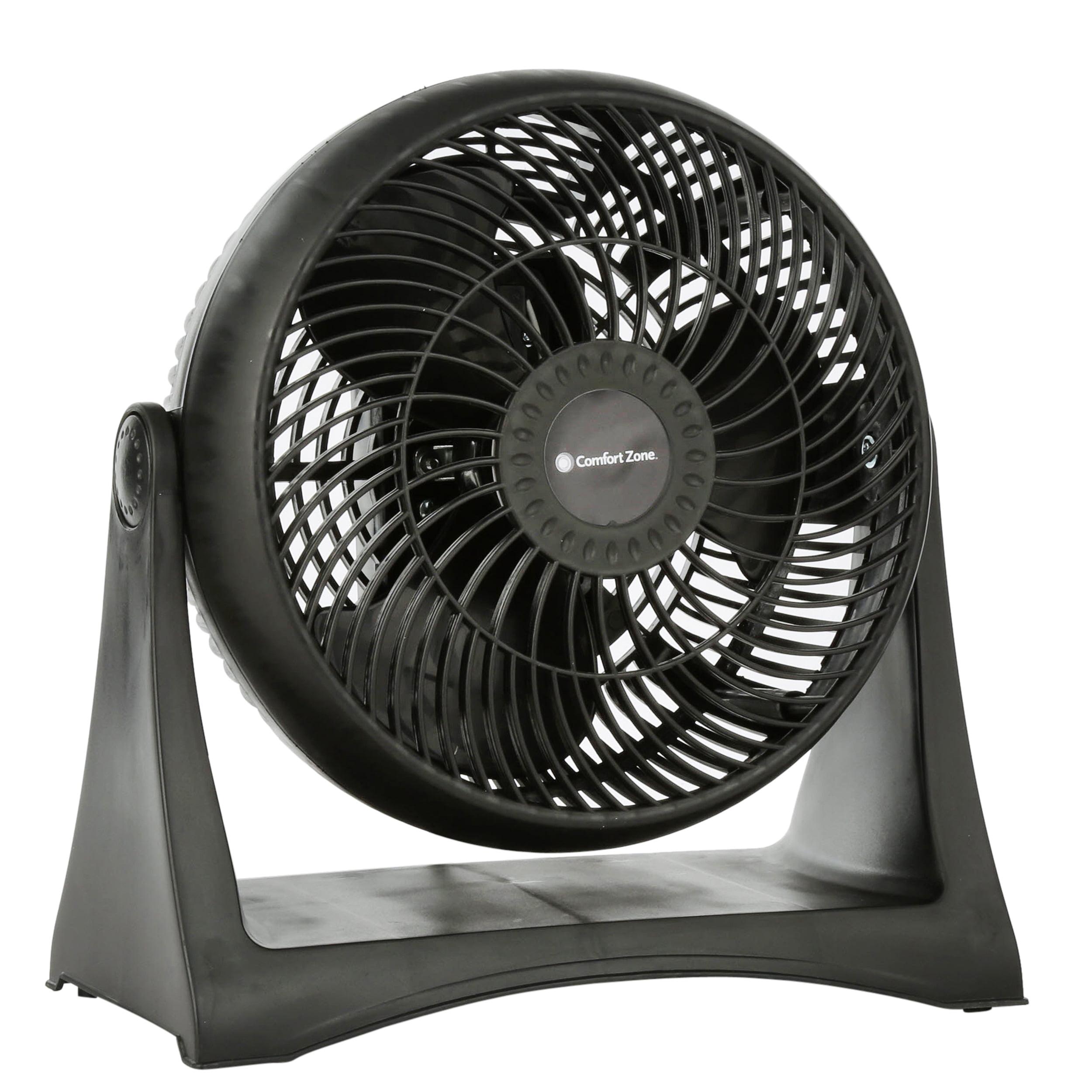 "Comfort Zone 8"" High Velocity Turbo 3-Speed Fan, Model #CZHVBT, Black"