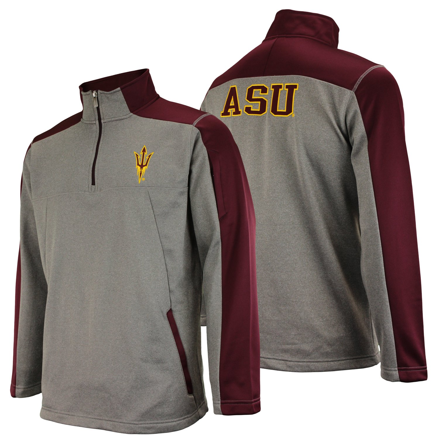 Outerstuff NCAA Men's Arizona State Sun Devils Performance Poly Fleece 1/4 Zip Up