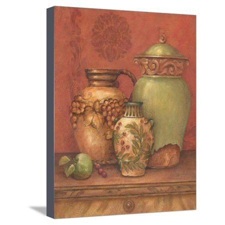 Tuscan Urns II Stretched Canvas Print Wall Art By Pamela Gladding