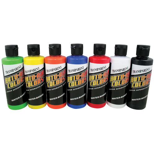 Auto-Air Colors 4 oz. Airbrush Aa Transparent Paint Set