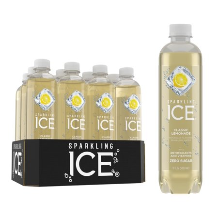 Sparkling Ice® Naturally Flavored Sparkling Water, Classic Lemonade 17 Fl Oz, 12