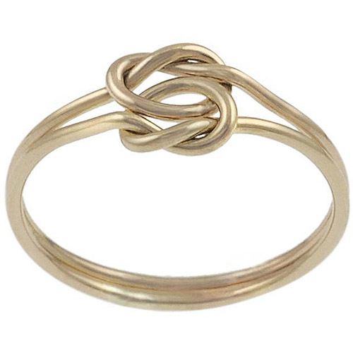 Brinley Co. Knotted 2-Piece Ring in Gold Fill