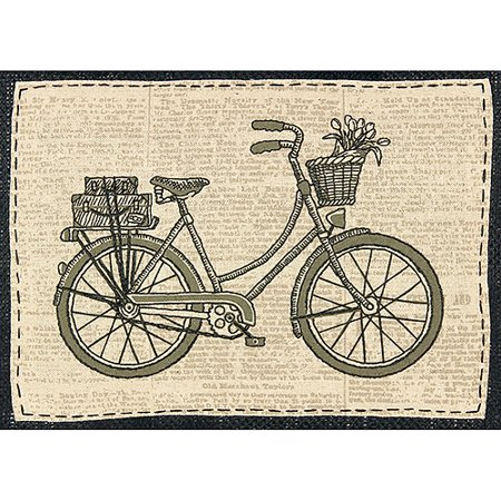 Dimensions Handmade Collection Classic Bicycle Stamped Embroidery Kit, 11