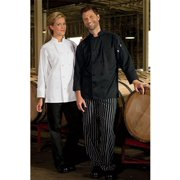 0403-0105 Classic 10 Knot Chef Coat in Black - XLarge