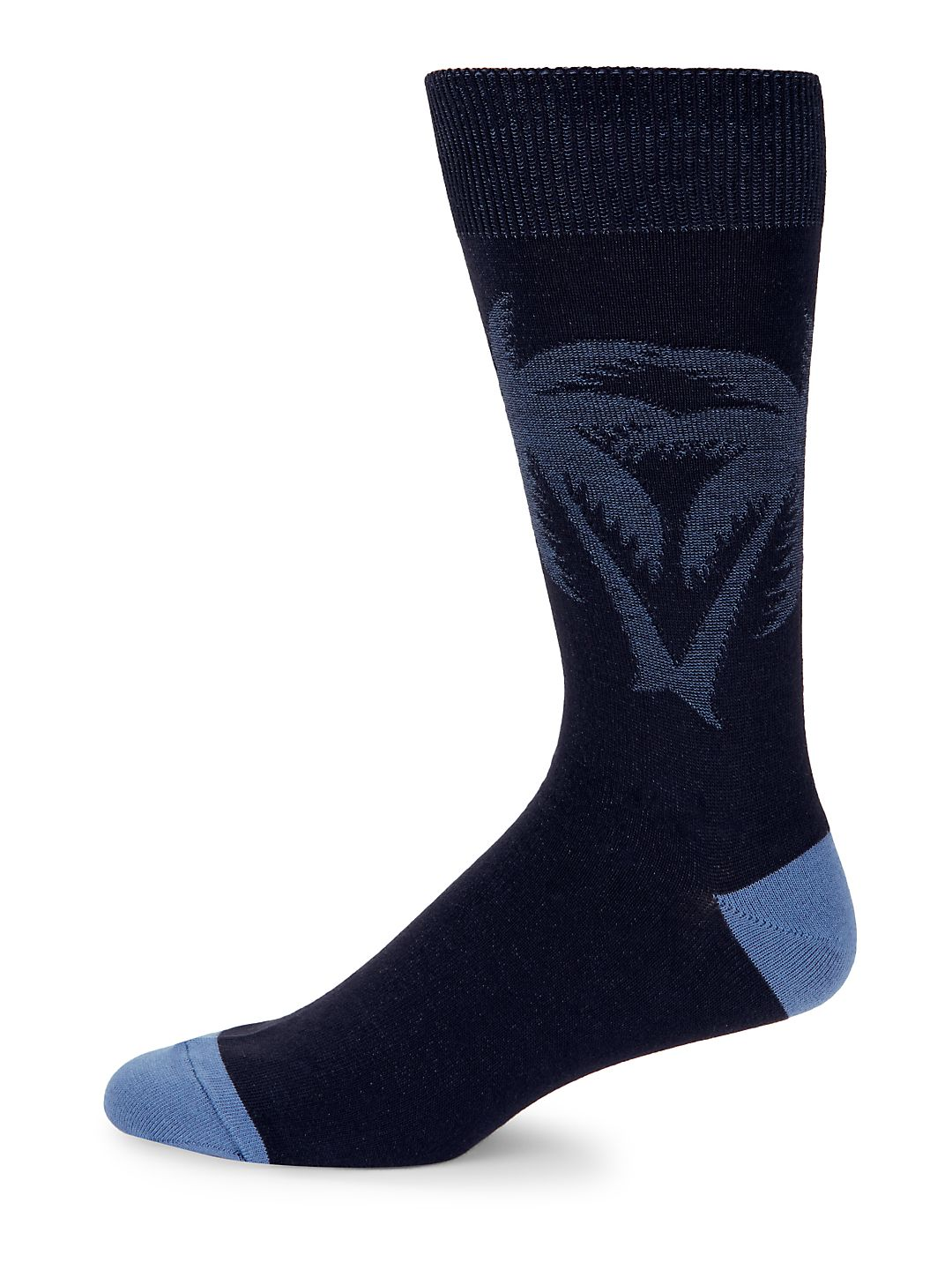 Palm-Print Textured Crew Socks