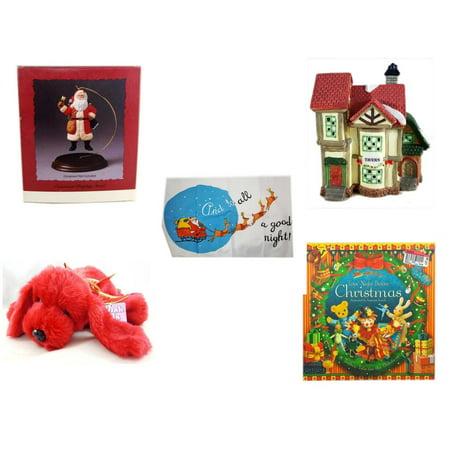 Hallmark Ornament Display - Christmas Fun Gift Bundle [5 Piece] - Hallmark Ornament Display Stand -  Village