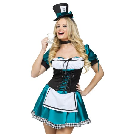 Fun World Sexy Adult Womens Mad Hatter Halloween Costume - Mad Hatter Woman Costume