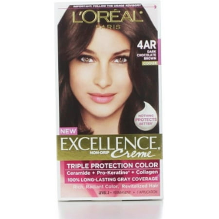 L'Oreal Paris Excellence Creme Triple Protection Hair Color, Dark Chocolate Brown [G15] 1