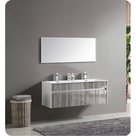 Fresca Fvn8512ha 48 Wall Mount High Gloss Double Sink Modern