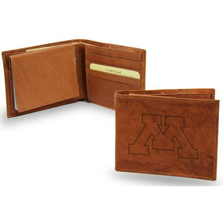 Minnesota Embossed Leather Bifold Wallet (Manmade Interior)