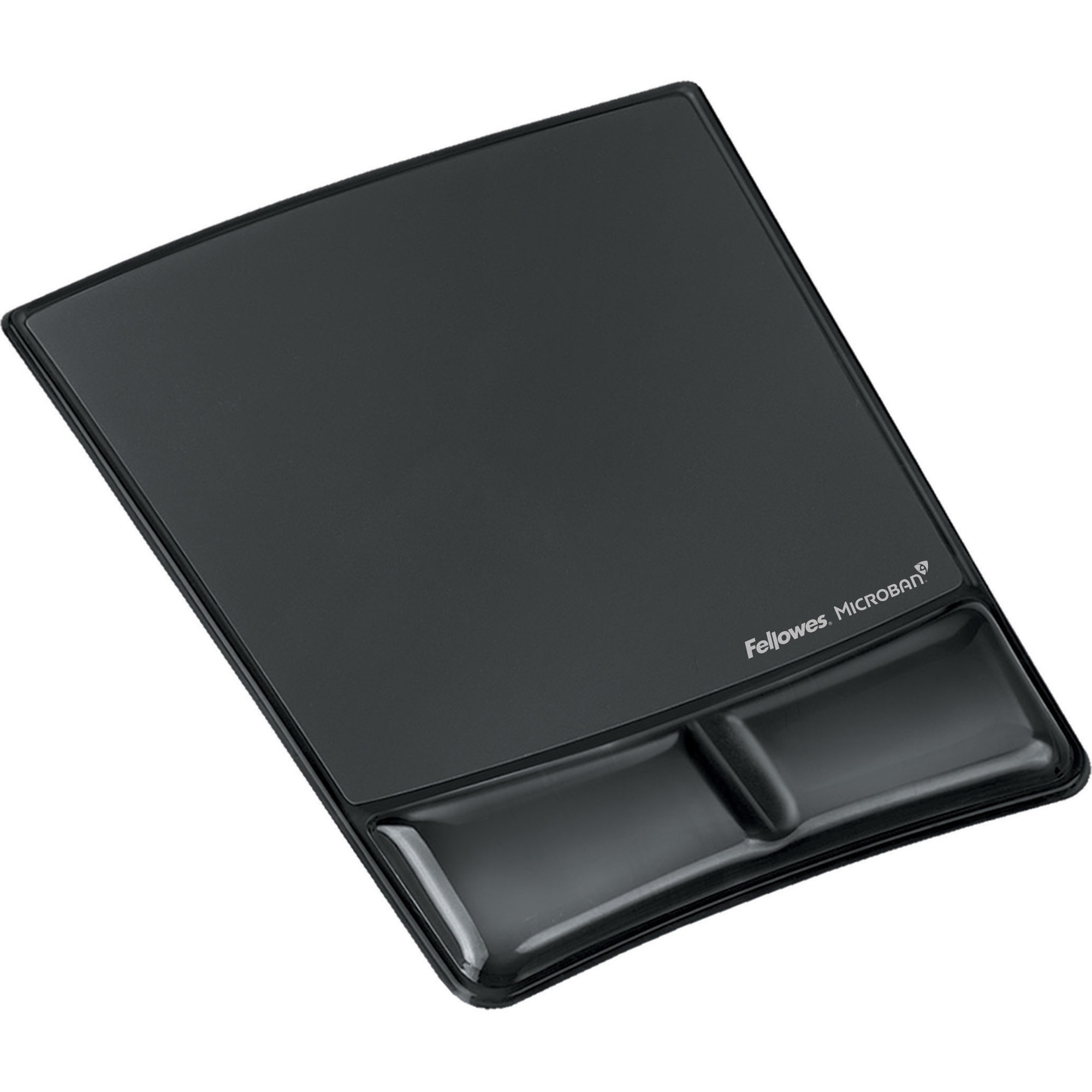 Fellowes, FEL9182301, Mouse Pad / Wrist Support with Microban® Protection, 1, Black
