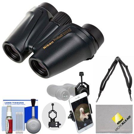 Nikon Prostaff 8x25 Waterproof / Fogproof Binoculars with Case + Harness + Smartphone Adapter + Cleaning