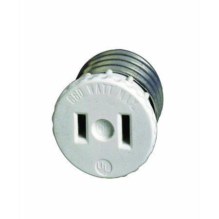 Leviton 875125w Light Socket Adapter Outlet