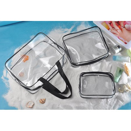 2017 New Portable Clear Travel Cosmetic Make Up Bag Transparent See Through (All Match Clear Travel Bag)