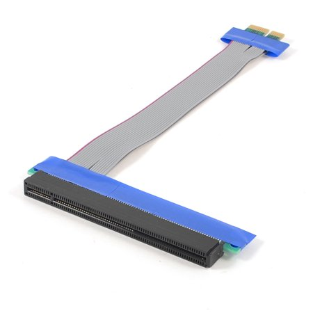 PCI-E 16X/1X Riser Card Flexible Extender Extension Cable Ribbon for -