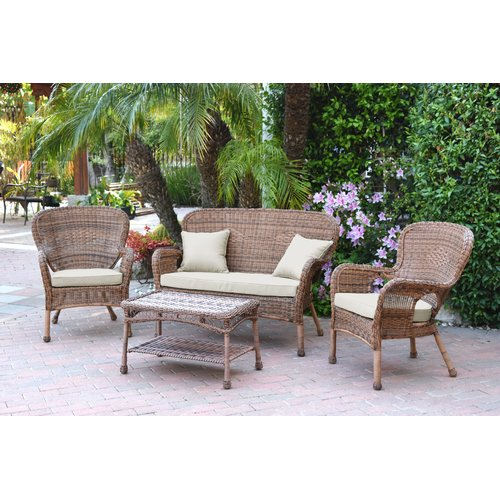August Grove Bellas 4 Piece Sofa Set with Cushions