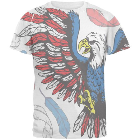Mens Adizero Feather (4th of July Patriotic Eagle Feathers All Over Mens T Shirt)