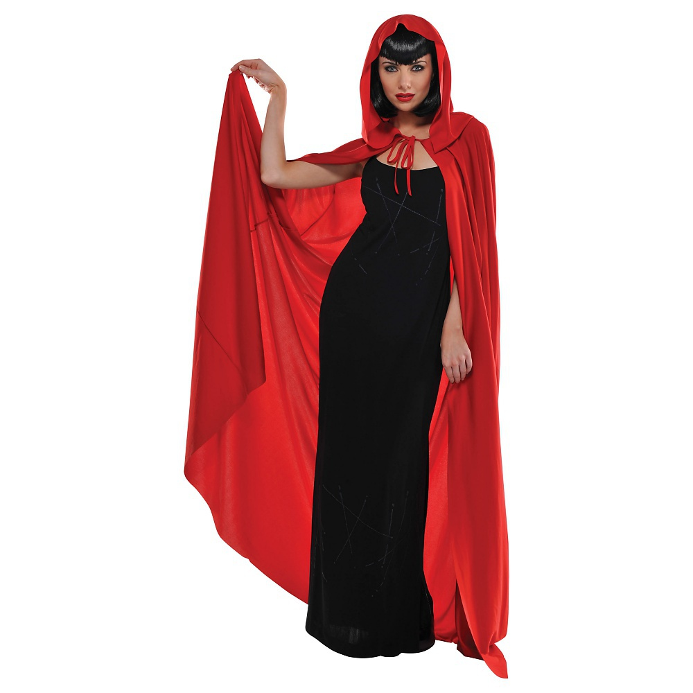 Hooded Cape Adult Costume Accessory Red