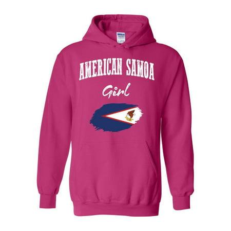 American Samoa Girl Unisex Hoodie Hooded Sweatshirt thumbnail