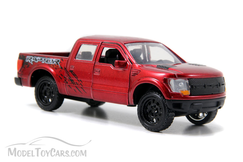 Ford F 150 Svt Raptor Pickup Truck Red Jada Toys Just Trucks 97013 1 32 Scale Cast Model Toy Car Brand New But Not In Box