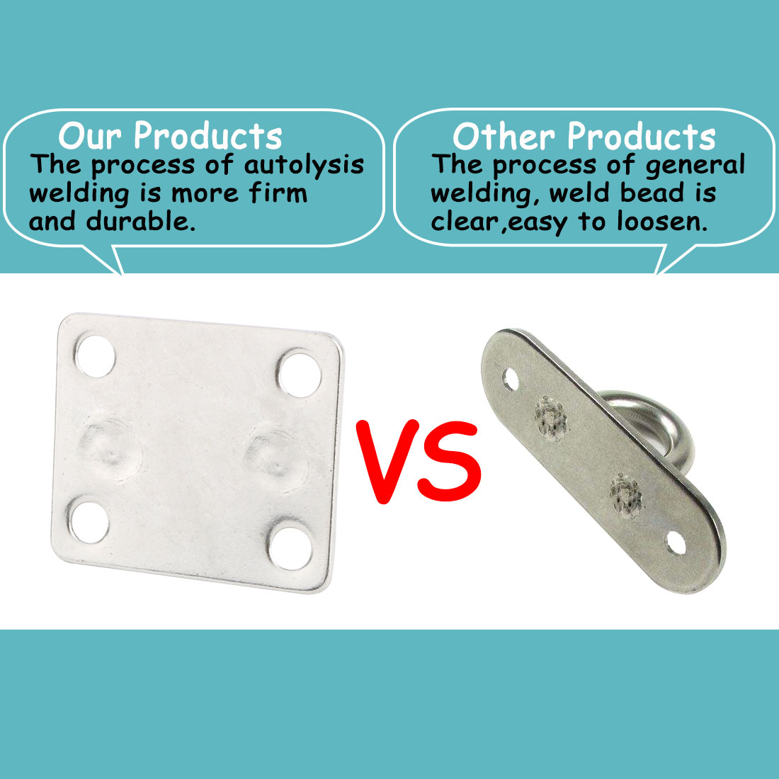 304 Stainless Steel Enclosed Ceiling Hook Hanger Silver Tone 60mm x 50mm x 40mm - image 2 of 7