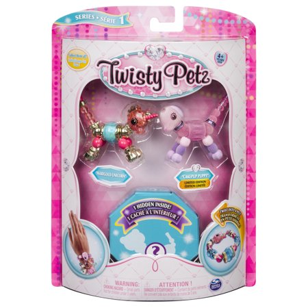 Twisty Petz - 3-Pack - Marigold Unicorn, Cakepup Puppy and Surprise Collectible Bracelet Set for Kids