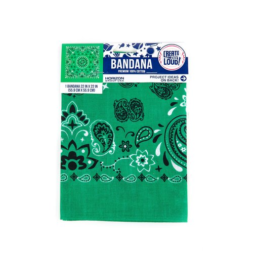 Create Out Loud Green Paisley Bandana