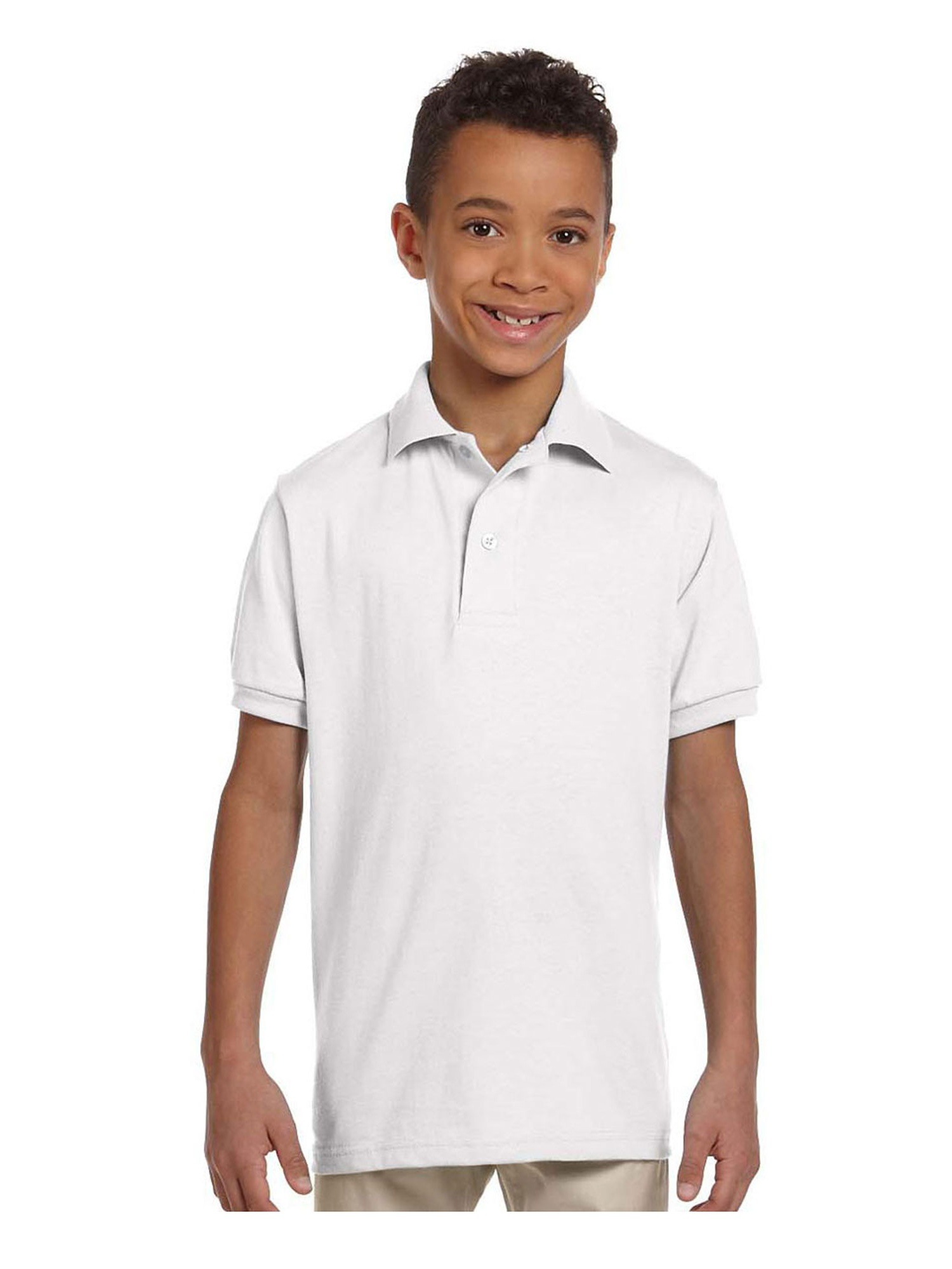 Jerzees Big Boy's Stain Resistant Tagless Label Polo Shirt, Style 437Y