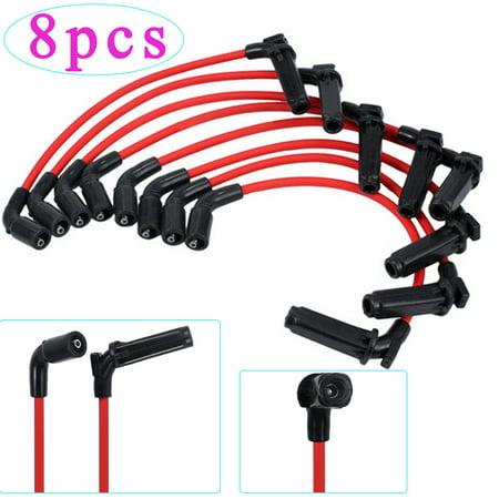 ESYNIC 8pcs Spark Plug Wires For CHEVY/GMC 1999-2006 LS1 VORTEC 4.8L 5.3L 6.0L Spark Plug Wire