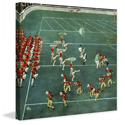 Marmont Hill Marching Band at Halftime by Thornton Utz Painting Print on Canvas