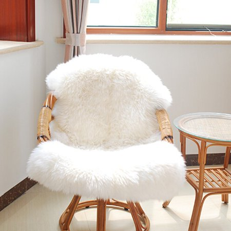 24 39 39 x35 39 39 soft artificial sheepskin living room floor fluffy rug carpet mat throw cover white. Black Bedroom Furniture Sets. Home Design Ideas