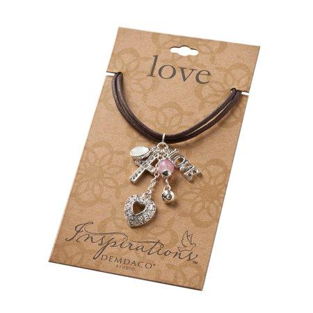 Studio Inspirations LOVE, HEART, CROSS Choker Necklace