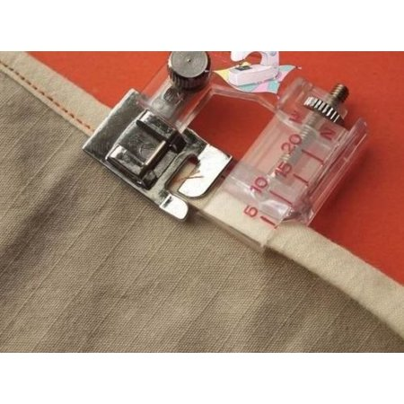 New Snap-on Adjustable Bias Binder Foot For Brother Singer Janome Sewing  Machine, The adjustable range is from 5mm to 20mm