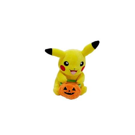Wct Pokemon 8In Halloween Plush Pikachu Pumpkin Bag