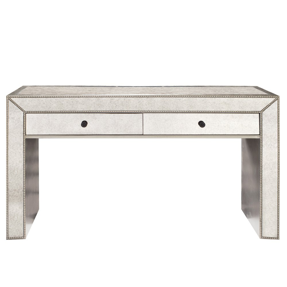 Antiqued Mirrored Console Table by The Howard Elliott Collection, Inc.