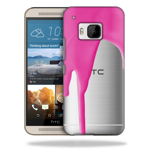 MightySkins Snap-On Protective Hard Case Cover for HTC One M9 Pink Drip