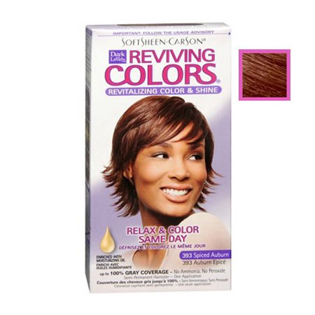 Dark And Lovely Relax And Color Same Day 393 Haircolor, Spiced Auburn - 1