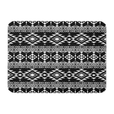 SIDONKU Pattern Boho Chic Tribal Aztec Folklore Abstract Ethnic National Doormat Floor Rug Bath Mat 23.6x15.7 inch