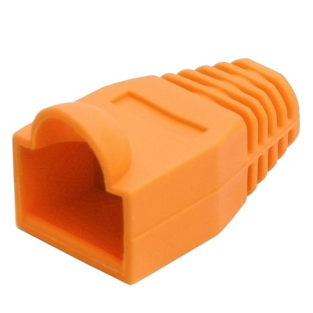 Cmple RJ-45 Strain Relief Boots for CAT5/5E/6 Ethernet Lan Cable Connector Cover Color ORANGE (Pack of (Rj 45 Orange Strain Relief)