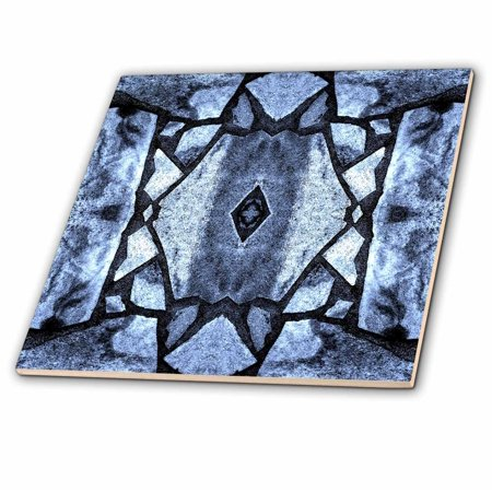 3dRose Blue Stone Mosaic Pattern - Ceramic Tile,