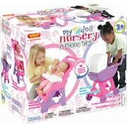 My Nursery 2 Piece Doll Nursery Set Includes High Chair and Carriage
