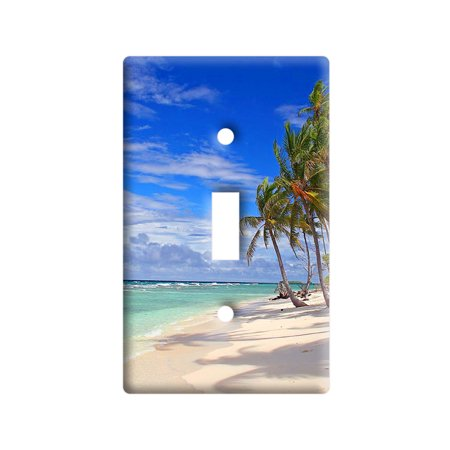 Tropical Beach - Island Sky Clouds Vacation Light Switch Plate Cover